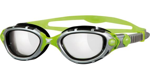 Zoggs Predator Flex Titanium Reactor Svømmebriller grå/grøn